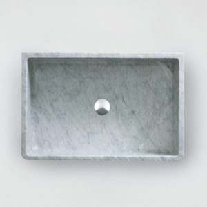 Carrara counter basin
