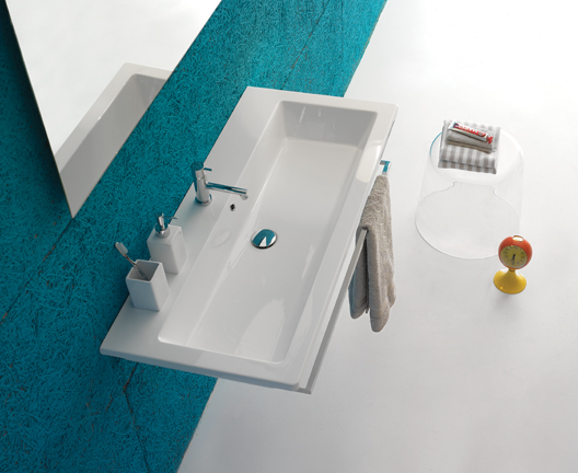 Forty3 FO100 wall hung basin