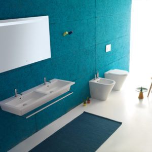 Forty3 FO125 wall hung basin