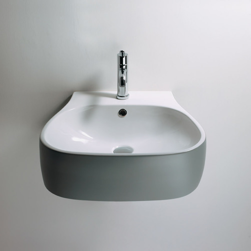 Pear wall hung basin
