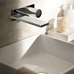 Art. E610b + D113A Milano Wall Mount Basin Mixer