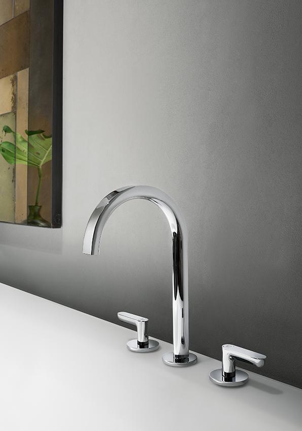 Art. R107 Icona Deco 3-hole basin mixer