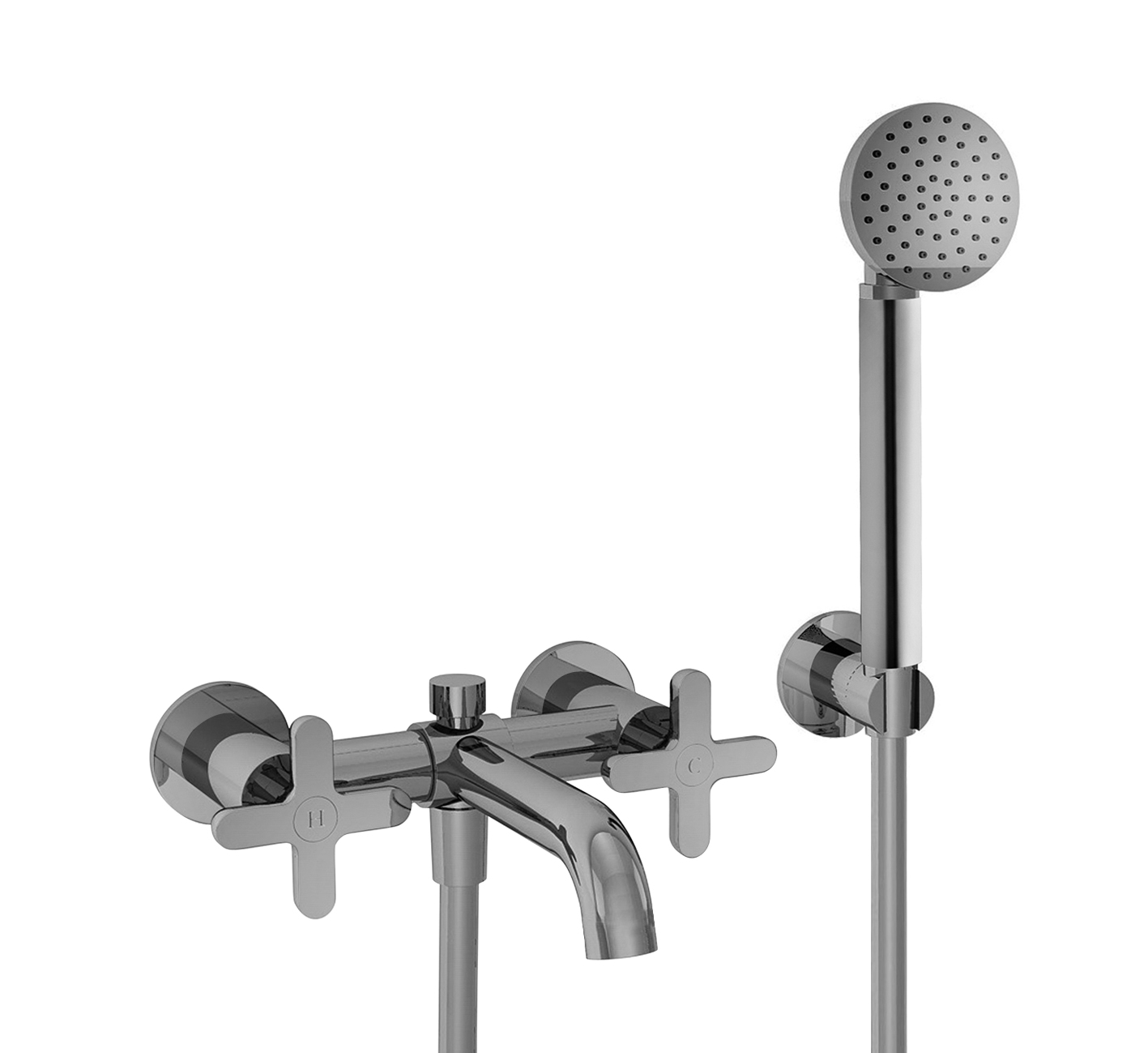 Art. R015 Icona Classic Wall Mount Bathtub Mixer