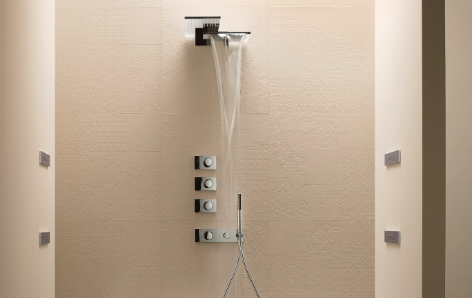 Art. 4714B + 4714A Milano Thermostatic shower Set