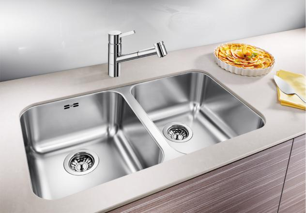 blanco supra 340/340 u double sink