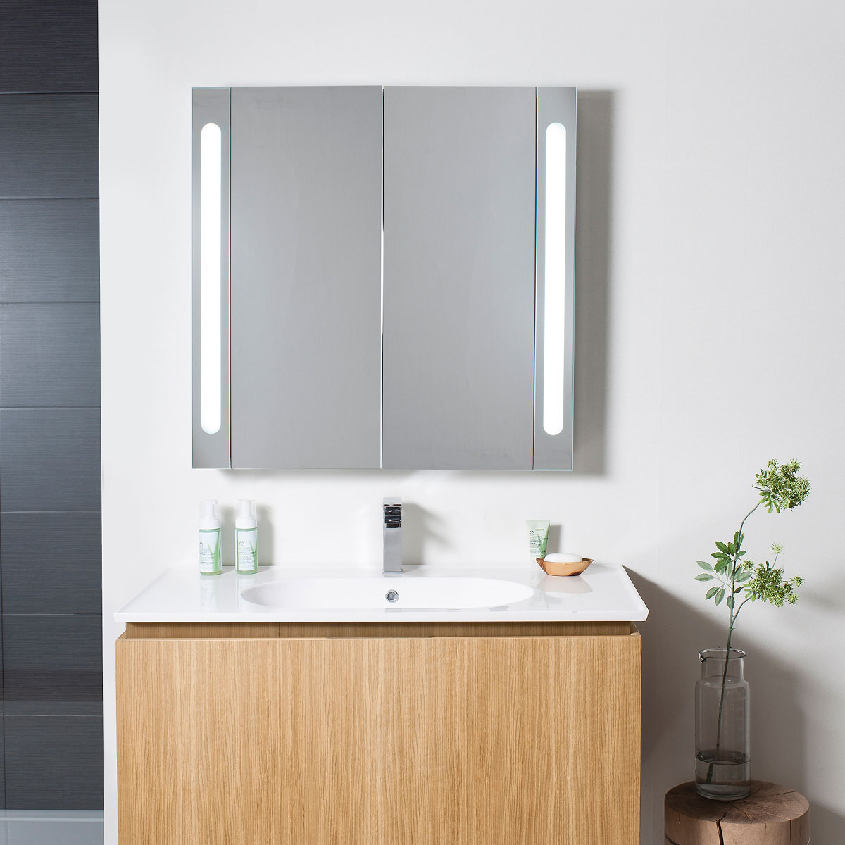 Electric Mirrored Cabinet 800mm Lavo Bathrooms And