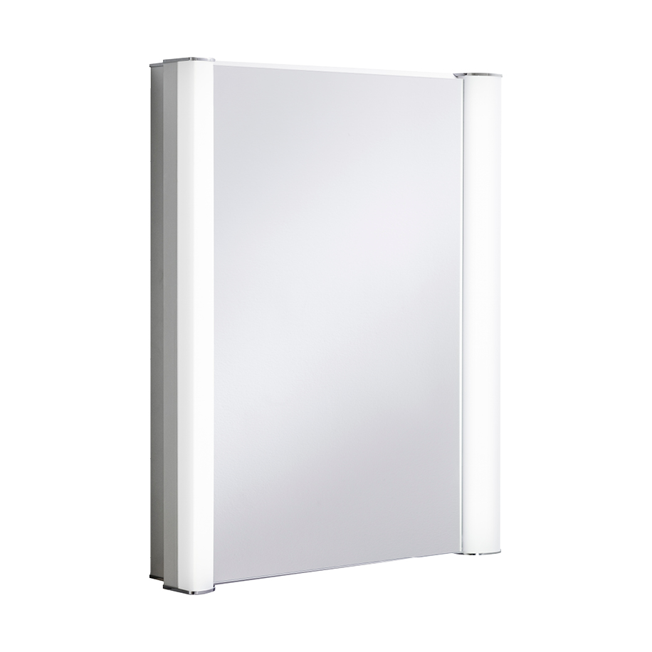 Duo 600mm illuminated mirror cabinet