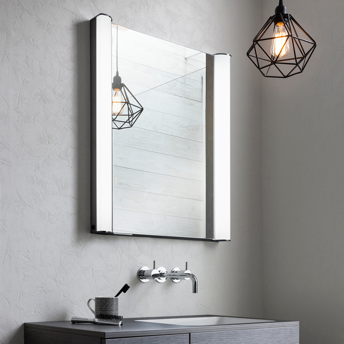 Duo 600mm Illuminated Mirror Cabinet Lavo Bathrooms And Bathroom Accessories In Cape Town