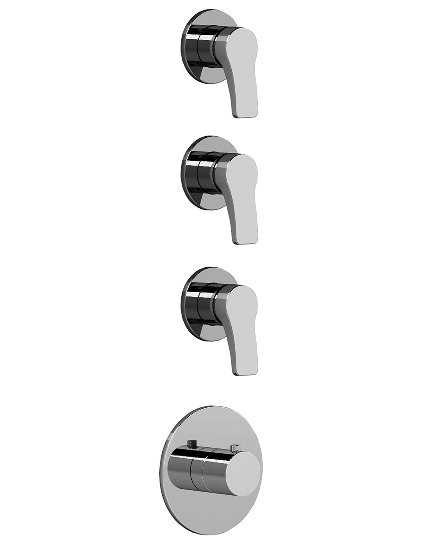 art b303b + a303a lissoni thermostatic shower mixer