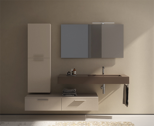 Incantho IN136D wall hung basin