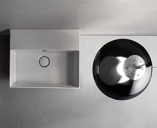 IN046 T-edge wall hung basin