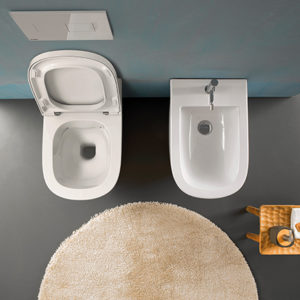 LAS04 Stockholm wall hung rimless wc