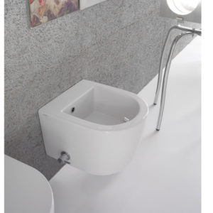 FOS11 Forty3 Short Wall Hung Bidet