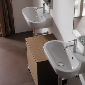 SB060 Bowl+ wall hung basin