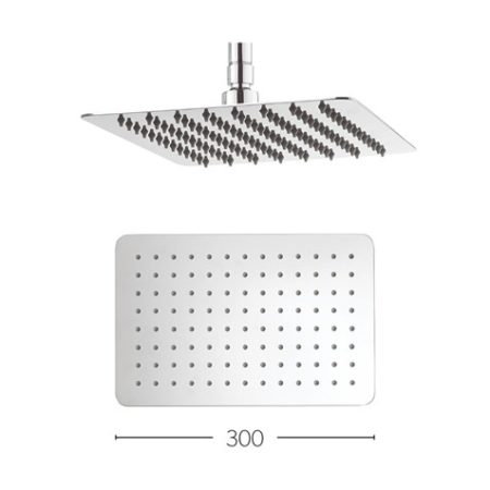 glide 300x200mm shower head