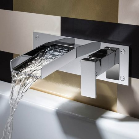 watersquare wall mount basin mixer