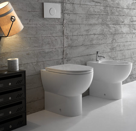 4all floor mount wc with slow close seat