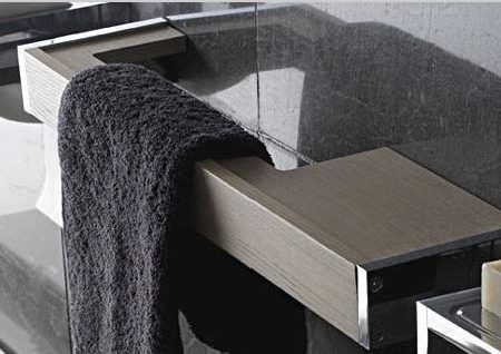 globo towel rail & shelf combo