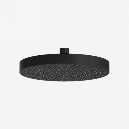 240mm matt black shower head